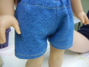 Dakota America Girl Doll finished Shorts