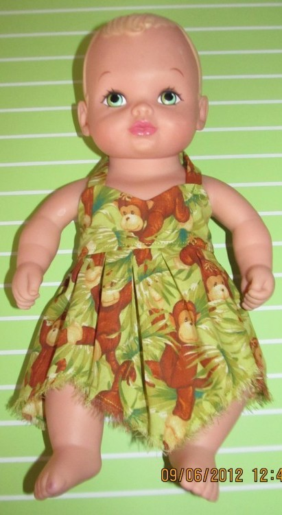 Crystal Baby Alive monkey dress