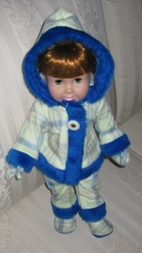 Peggy Funky Fur Doll Clothes Patterns Blue