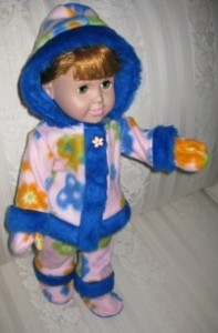 Peggy Funky Fur Doll Clothes Patterns Blue and Pink