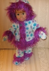 Peggy Funky Fur Doll Clothes Patterns Pink Dots
