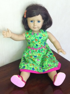 Summer Dress for American Girl Doll by Pilar