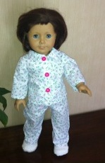Winter Pjs for American Girl Doll by Pilar