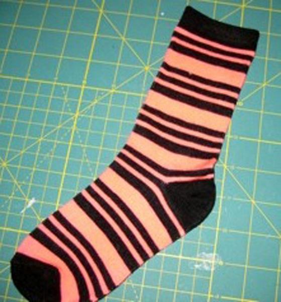1.One sock lying flat