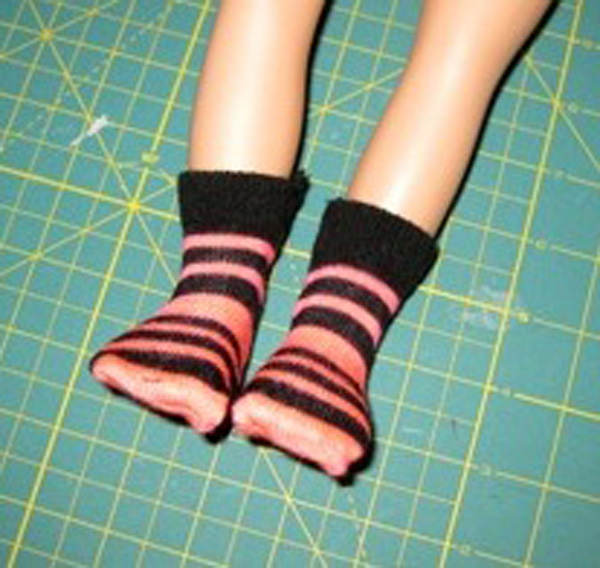 9.socks on the doll