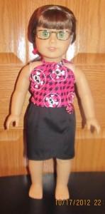 Crystal halter and short sarong doll clothes patterns