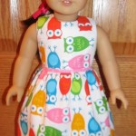 Crystal owl dress doll clothes patterns