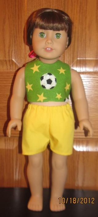 Crystal soccer crop top and shorts