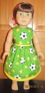 Crystal soccer dress doll clothes patterns