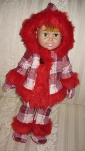 Peggy Red Funky Fur Doll Clothes Pattern