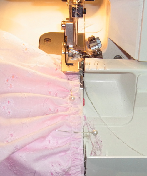 Serger and Pin Direction Sewing Doll Clothes