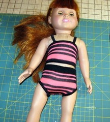 3. Ladies sock nearly finished as a doll clothes top
