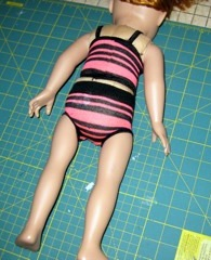 4. Ladies sock makes a doll clothes top