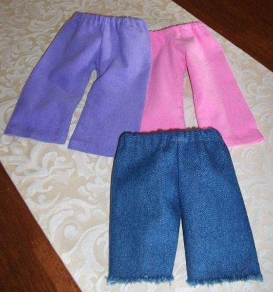 American Girl Doll Cord and denim pants by Lynne.