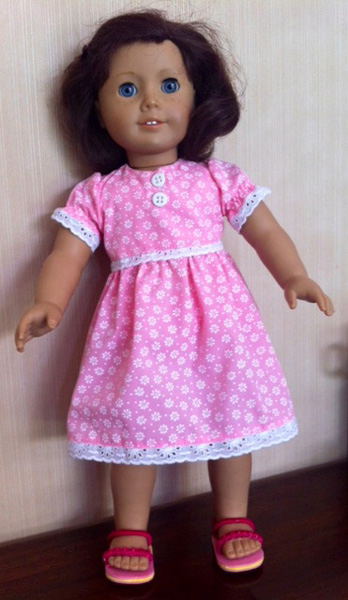 Doll Clothes Patterns Dress with puff sleeves by Pilar
