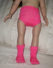 Pink Doll Clothes Under pants and Socks