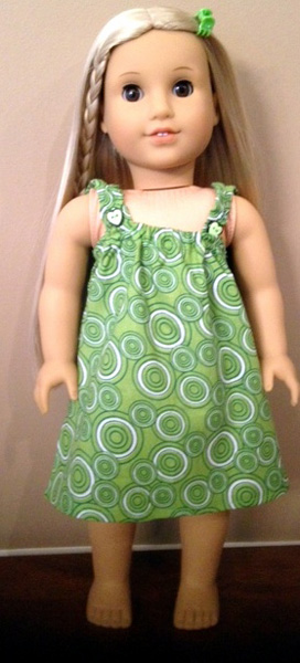 American Girl Doll Summer Nightie on Julie by Suzanne