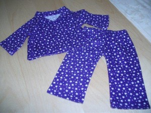 Winter Pjs doll clothes patterns by Lynne