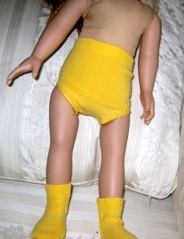 Yellow Doll Clothes Under pants and Socks