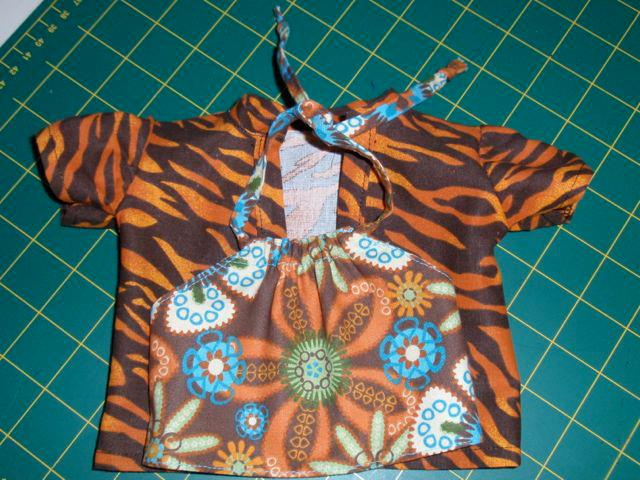 Australian Girl halter top and over shirt doll clothes