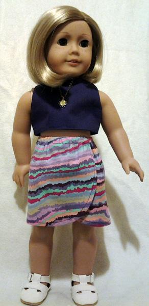 sarong crop top doll clothes