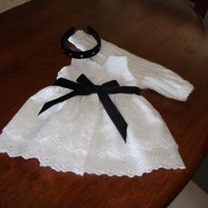 American Girl Summer doll clothes dress made from broderie anglaise