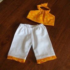 American Girl doll clothes capri pants and halter top yellow