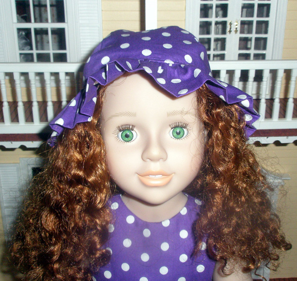 Debbi resizing hat doll clothes pattern for Australian Girl doll