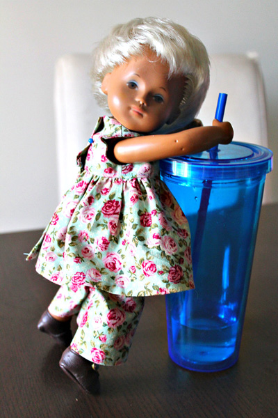 Sasha Baby doll resizing American Girl Doll Clothes Patter Summer Dress