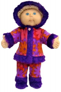 Cabbage Patch Kids Doll Clothes Patterns Winter Funky Fur