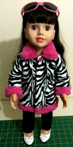 Chris Lucas Fur trimmed Jacket Doll Clothes Patterns