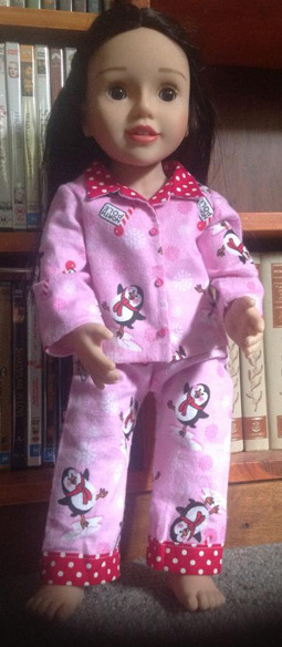 Virginia American Girl Doll Clothes Pattern Winter PJs