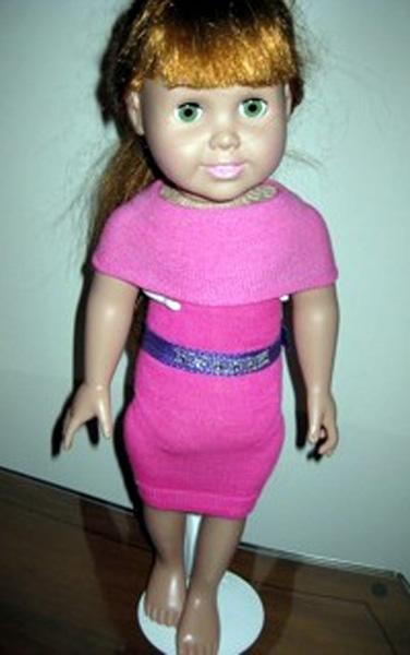 peggy sock dress pink shawl neckline