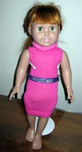 peggy sock dress pink turtle neckline