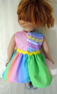Peggy Quartered Dress Back