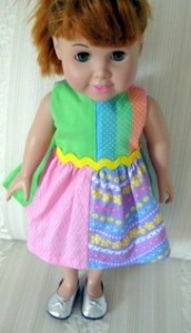 Peggy Quartered Dress Front