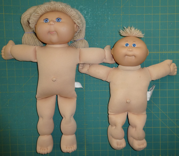 Cabbage Patch Kids dolls sizes