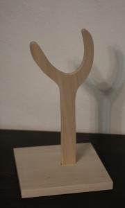 Wooden doll stand