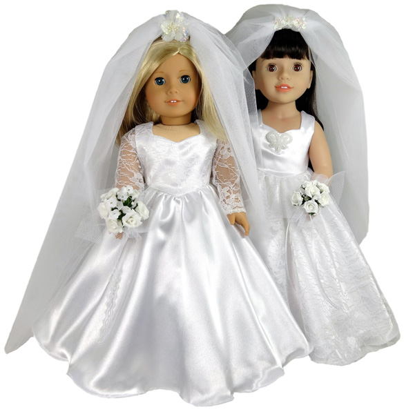 18 Inch Doll Wedding Dress Patterns Release | Rosies Doll Clothes Patterns