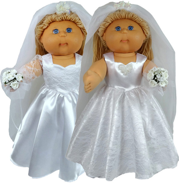 Cabbage Patch Kids Doll Clothes Pattern Wedding Dress