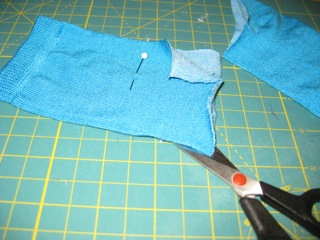 2. Cut socks up side