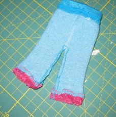 5. Sew inside leg