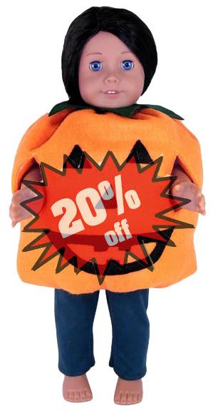 American Girl Doll Clothes Pattern Pumpkin 20
