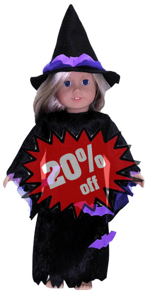 American Girl Doll Clothes Pattern Witch 20
