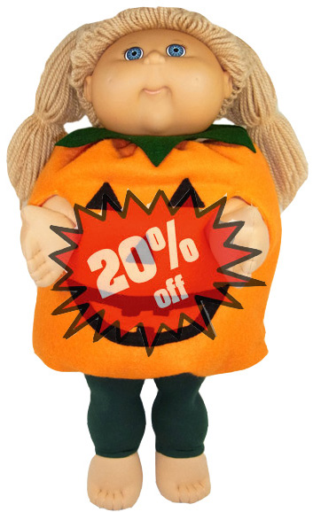 Cabbage Patch Kids Doll Clothes Pattern Pumpkin 20