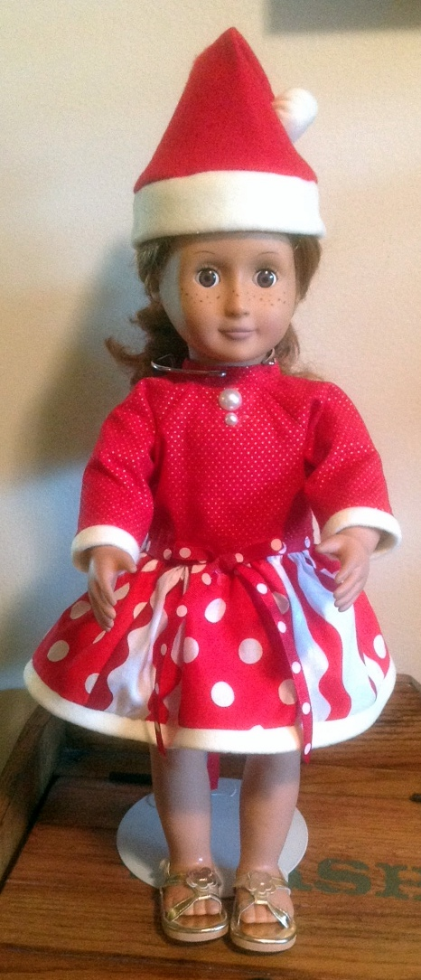 Betty Ann Christmas Doll Dress