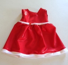 Christmas dolls dress
