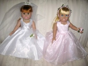 Wedding dress and bridesmaid - peggy