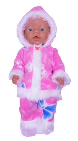Baby Born Funky Fur pink butterflies