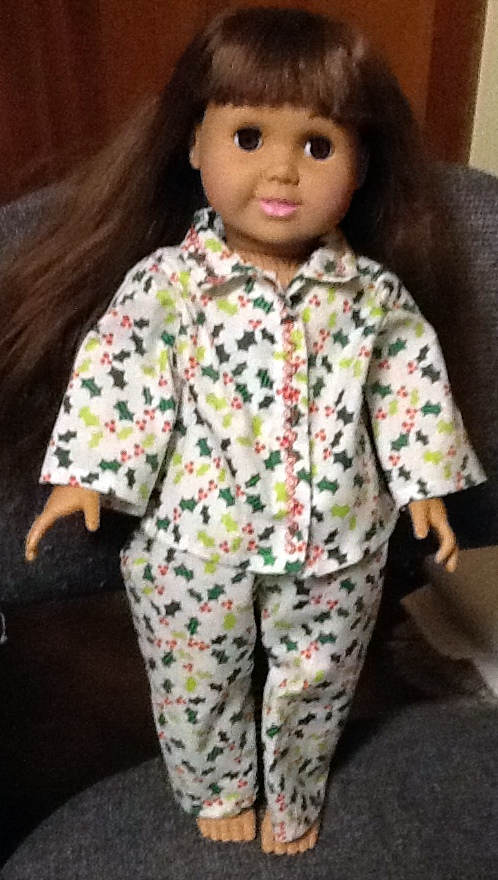 Doll winter pyjamas hollins